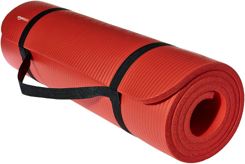 AmazonBasics 1/2-Inch Extra Thick Exercise Mat - best yoga mats for beginners